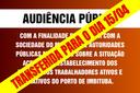 AUDIÊNCIA PÚBLICA N° 002/2021 COM DATA TRANSFERIDA PARA 15/04
