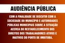 AVISO DE AUDIÊNCIA PÚBLICA N° 002/2021