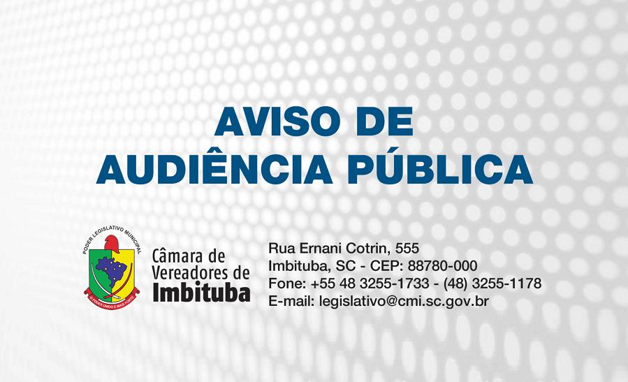 AVISO DE AUDIÊNCIA PÚBLICA N° 010/2018