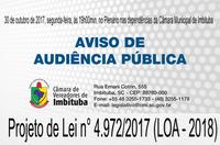 Aviso de Audiência Pública nº 009/2017