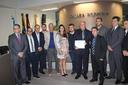 Vereador Robertinho apresenta Moção de congratulação ao Empresario Jaime Pacheco Alves.