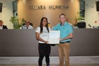 Moção de Congratulação em reconhecimento à Bianca Daimoni Paulino.