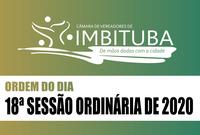 Ordem do Dia da 18ª Sessão Ordinária de 2020