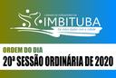 Ordem do Dia da 20ª Sessão Ordinária de 2020