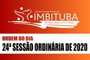 Ordem do Dia da 24ª Sessão Ordinária de 2020