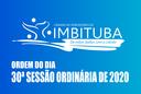 Ordem do Dia da 30ª Sessão Ordinária de 2020