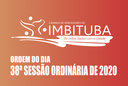 Ordem do Dia da 38ª Sessão Ordinária de 2020
