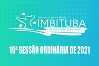 Pauta da 10ª Sessão Ordinária de 2021