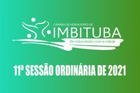 Pauta da 11ª Sessão Ordinária de 2021