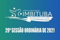 Pauta da 29ª Sessão Ordinária de 2021
