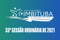 Pauta da 33ª Sessão Ordinária de 2021