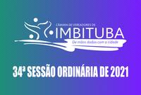 Pauta da 34ª Sessão Ordinária de 2021