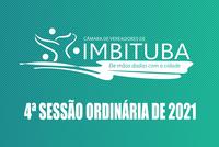 Pauta da 4ª Sessão Ordinária de 2021