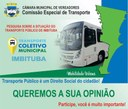 Pesquisa sobre a situação do transporte público de Imbituba