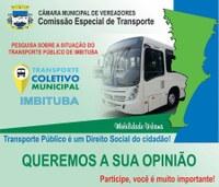 Pesquisa sobre a situação do transporte público de Imbituba
